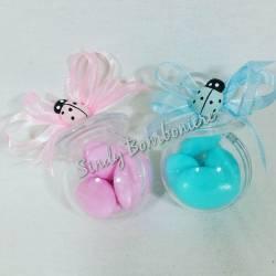 Bomboniere per nascita ciuccio plexiglas confettata per nascita porta confetti