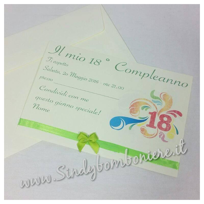 Preferenza INVITI Biglietto per Compleanno festa inviti con busta GRAFICA in  KT42