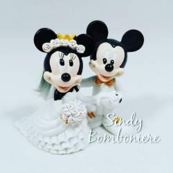 FAI DA TE Bomboniere TOPOLINO michey mouse DISNEY appoggio 4 cm 2 varianti CON ORSETTO per nascita per battesimo compleanno