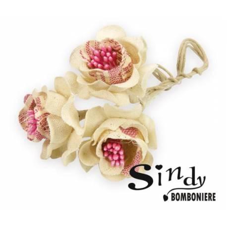Bomboniere fai da te fiori roselline con pistilli per confezione matrimonio cresima battesimo - Decorazioni per cresima ...