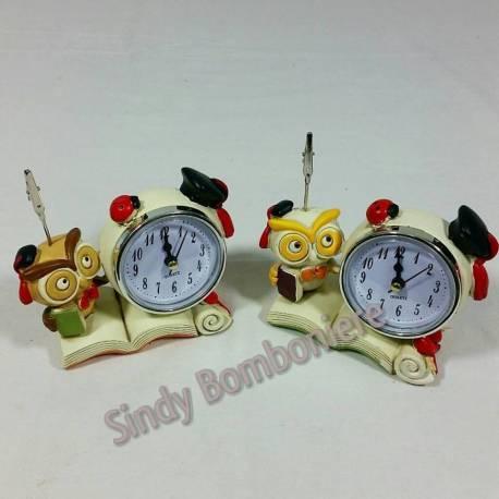 Bomboniera orologio clip gufo laurea 2 varianti la142 for Orologio fai da te