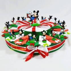 Torta BOMBONIERA Topolino CALCIATORE da APPOGGIO Q067700