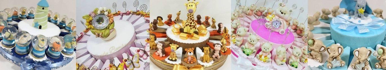 Animaletti da appoggio per torte bomboniere