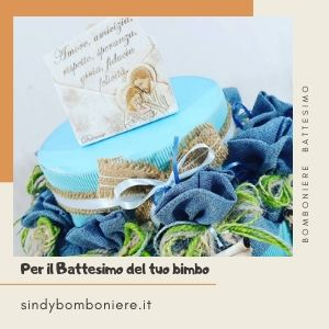 bomboniere battesimo bimbo sacchetti icona sacra