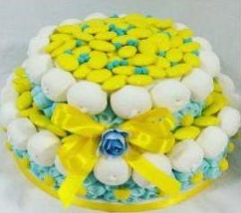 confettata con caramelle per caramellata gialla