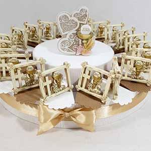 torta bomboniere comunione con simboli Sacri